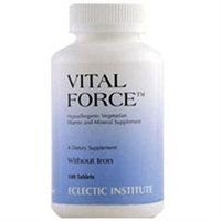 Eclectic Institute Vital Force without Iron - 180 Tablets