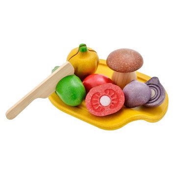 Plan Toys 3601 Wooden Toy Assorted Vegetable Set