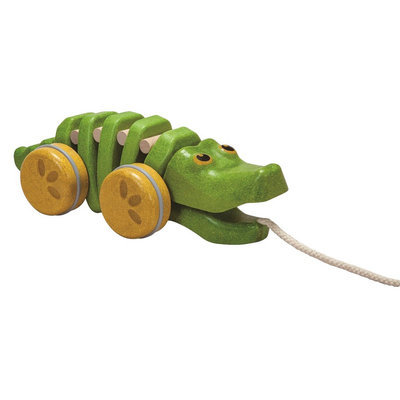 Plan Toys PlanToys Preschool Dancing Alligator Pull Along Toy