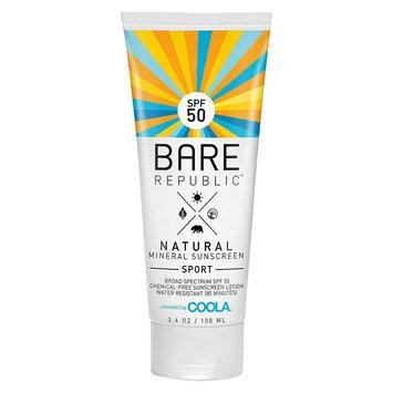 C & K, Llc Bare Republic Mineral Sport Body Sunscreen Lotion SPF 50 - 3.4 oz