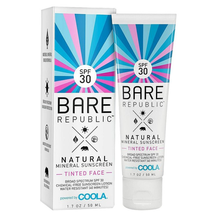 Bare Republic Mineral Tinted Face Sunscreen Lotion SPF 30 ...