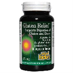Natural Factors - Gluten Relief Enzymes - 90 Vegetarian Capsules