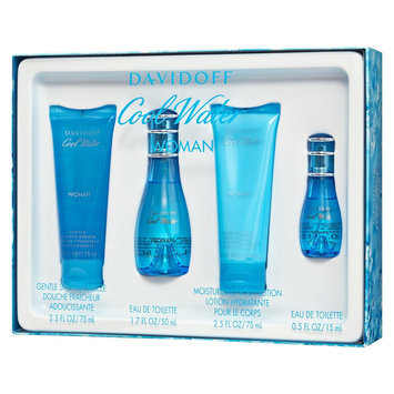 Cool Water Coffret: Eau De Toilette Spray 50ml/1.7oz + Eau De Toilette Spray 15ml/0.5oz + Body Lotion 75ml/2.5oz + Showe