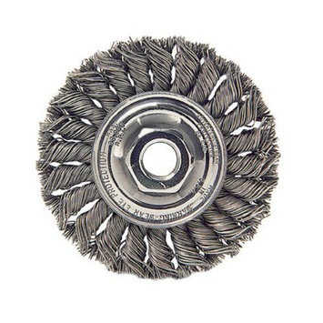 Weiler Dualife Standard Twist Knot Wire Wheels - sth-6 .016 1/2-5/86in dia std