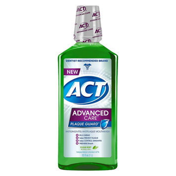 ACT Advanced Care Plaque Guard Clean Mint Mouthwash