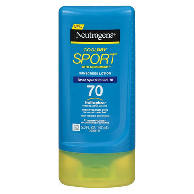 Neutrogena CoolDry Sport Sunscreen Lotion Broad Spectrum SPF 70
