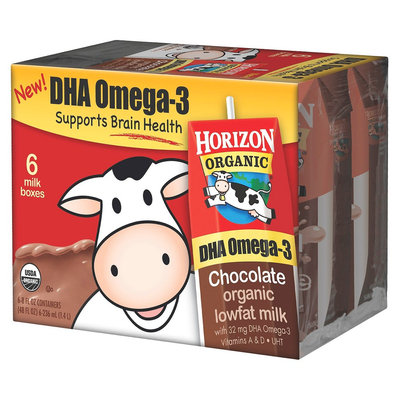 Horizon Organic Dairy Horizon Organic DHA Omega 3 Low Fat Milk Chocolate 6 Containers