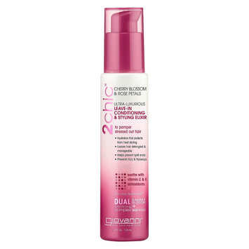 Giovanni 2chic Cherry Blossom & Rose Petals Leave-in Conditioning & Styling Elixir - 4 oz