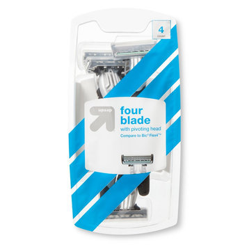 up & up Men's 4 Blade Disposable Razors - 4 count