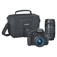 Canon EOS Rebel T5 DSLR Camera with 18-55mm and 75-300mm Lenses