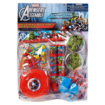 American Greeting Favor Box 48 ct Multi-colored Avengers License