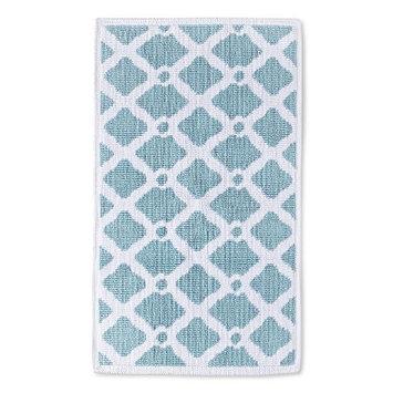 Threshold Lattice Bath Rug - Blue (20x34