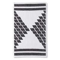 Nate Berkus Textured Bath Mat - Black/White (20x34
