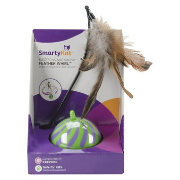 SmartyKat FeatherWhirl Electronic Motion Ball Pet Toy