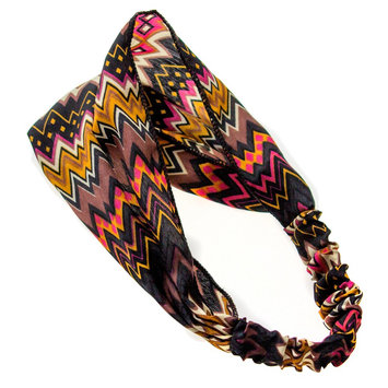 Gimme Clips Tribal Print Satin Headwrap