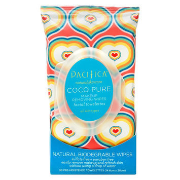 Pacifica Coco Pure Makeup Removing Wipes Facial Towelettes - 30 Count