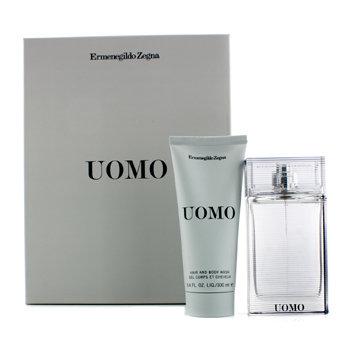 Ermenegildo Zegna Uomo Coffret: Eau De Toilette Spray 50ml/1.7oz + Hair & Body Wash 100ml/3.4oz 2pcs