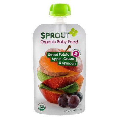 Sprout Organic Food Pouch - Sweet Potato, Apple, Grape & Spinach 4oz