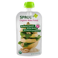 Sprout Organic Food Pouch - Butternut Squash, White Beans, Spinach &