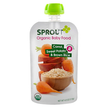 Sprout Foods Sprout Stage 2 Carrot, Sweet Potato & Brown Rice - 5 pk
