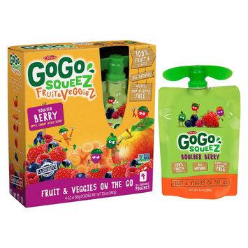GoGo squeeZ Fruit & VeggieS On The Go Boulder Berry Pouches 3.2 oz 4 ct