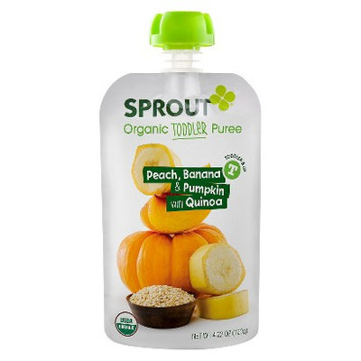Sprout Organic Food Pouch - Peach, Banana & Pumpkin with Quinoa 4.