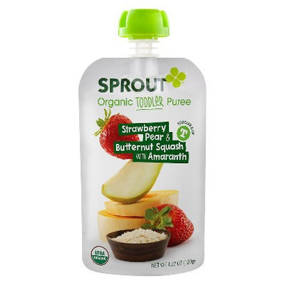 Sprout Organic Food Pouch - Strawberry, Pear & Butternut Squash with