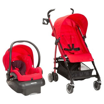 Maxi-CosiA Kaia/MicoA Nxt Travel System in Intense Red