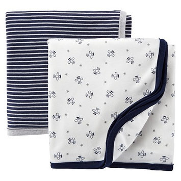 Precious Firsts Made By Carter's Just One YouMade by Carter's Newborn Boys' 2 Pack Airplane and Stripe
