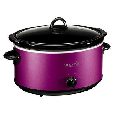 Crock-Pot 6 Qt. Manual Slow Cooker with Travel Strap - Purple