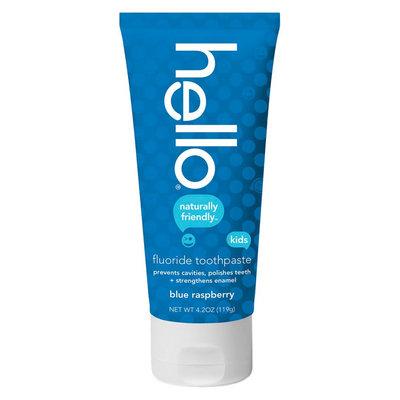 Hello Blue Raspberry Fluoride Toothpaste for Kids