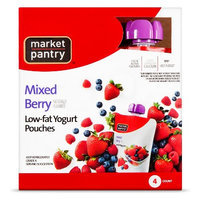 Market Pantry Yogurt Pouch Mixed Berry 4 Count 3.5 oz