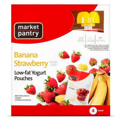 Market Pantry Yogurt Pouch Banana Strawberry 4 Count