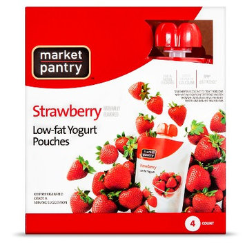 Market Pantry Yogurt Pouch Strawberry 4 Count