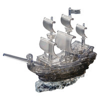 Bepuzzled 3D Crystal Puzzle Deluxe Pirate Ship Smoke Color