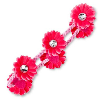 Fantasia Accessories Girls' Floral Elastic Headband - Pink