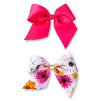 Fantasia Accessories Girls' 2-Pack Bow Hair Clips - Pink