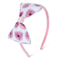 Fantasia Accessories Girls' Floral Bow Headband - Pink