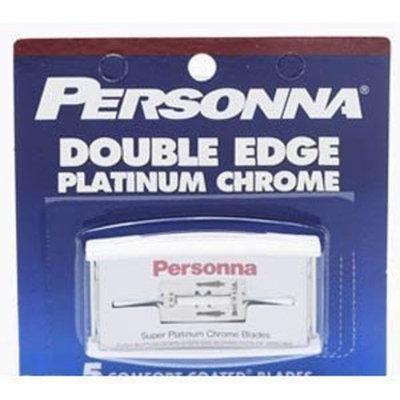 Personna Platinum Chrome Double Edge Razor Blades (5 Pack)