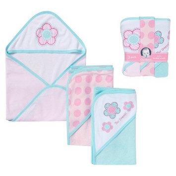 Gerber Newborn Girls' 3-Piece Bath Set