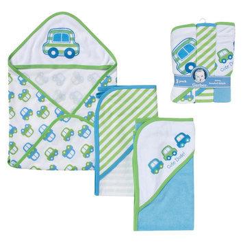 Gerber Newborn Boys' 3-Pack Hooded Towels