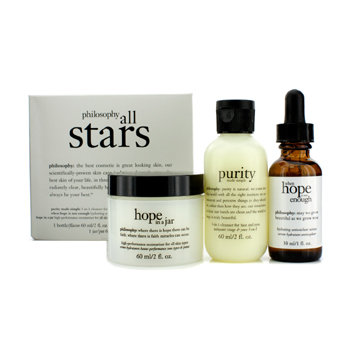 philosophy All Stars Kit: purity Made Simple cleanser + when hope is not enough serum + hope in a jar