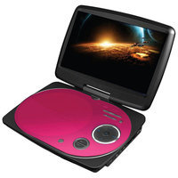 Impecca USA 9-in. Swivel Screen Portable DVD Player DVP916P (Pink)