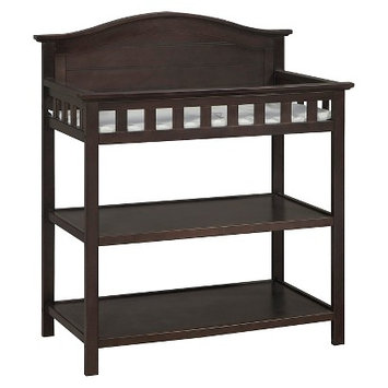 Stork Craft Thomasville Kids Southern Dunes Changing Table with Pad - Espresso