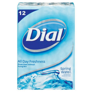 Dial® Soap Antibacterial Deodorant Soap Bars Spring Water