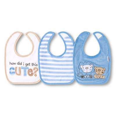Gerber Newborn Boys' 3 Pack Terry Bib Set