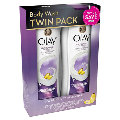 Olay Age Defying Body Wash With Vitamin E 16 oz Twin Pack