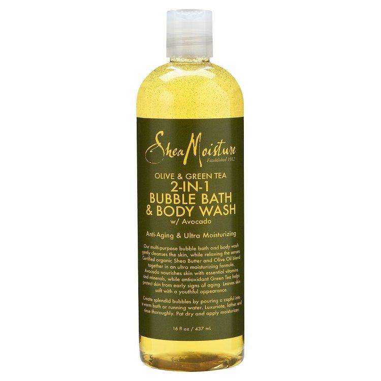 SheaMoisture Olive & Green Tea 2-in-1 Bubble Bath & Body Wash - 16 oz