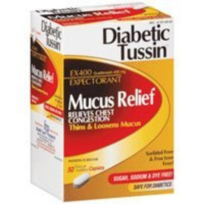 Diabetic Tussin EX 400 Expectorant Immediate Release Caplets- 50 ea