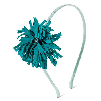 Crimzon Rose Girls' Floral Pom Headband - Turquoise
